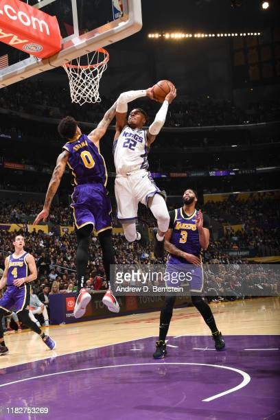 Richaun Holmes of the Sacramento Kings shoots the ball against the Los Angeles Lakers on November 15 2019 at STAPLES Center in Los Angeles California...
