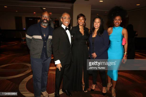 Richelieu Dennis Reverend Al Sharpton Aisha McShaw Michelle Ebanks and MoAnA Luu attend the 2019 National Action Network Keepers Of The Dream Awards...
