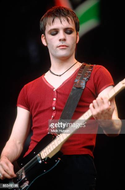 Richey Edwards of the Manic Street Preachers performs on stage at Phoenix Festival United Kingdom 18th July 1993