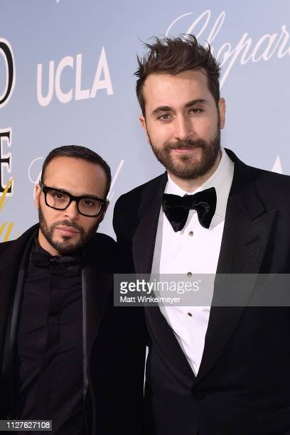Richie Akiva and Darren Dzienciol attend the UCLA IoES honors Barbra Streisand and Gisele Bundchen at the 2019 Hollywood for Science Gala on February...