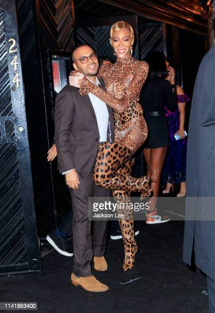 Richie Akiva and Winnie Harlow at the official Met Gala afterparty at Up and Down on May 6 2019 in New York City