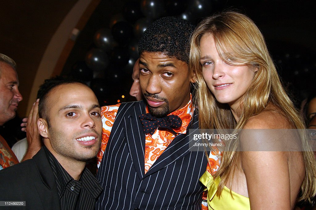 Richie Akiva, Fonzworth Bentley and Carmen Kass during Butter's Two Year Anniversary at Butter in New York City, New York, United States.