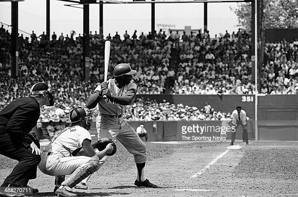 Richie Allen of the Philadelphia Phillies bats during the 1964 season