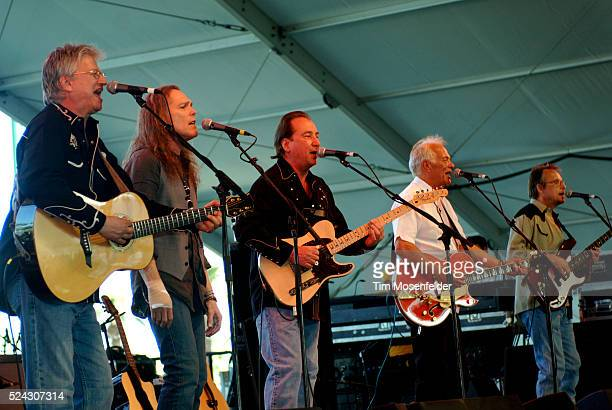 Richie Furay Timothy B Schmit Jim Messina Paul Cotton and Jack Sundrud of Poco perform as part of the 2009 Stagecoach Music Festival at the Empire...