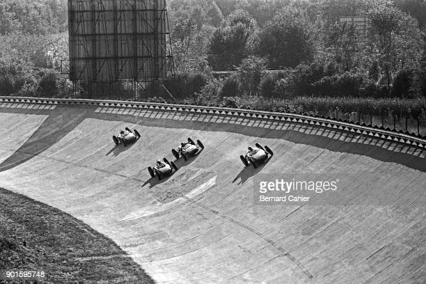 Richie Ginther Phil Hill Jim Clark Ricardo Rodriguez Ferrari 156 Grand Prix of Italy Autodromo Nazionale Monza 10 September 1961 First lap of the...