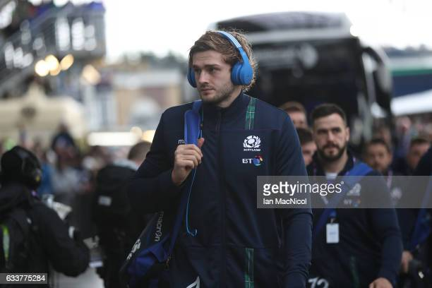 Richie Gray of Scotland arrives prior to the RBS 6 Nations match between Scotland and Ireland at Murrayfield Stadium on February 4 2017 in Edinburgh...
