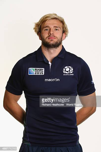 Richie Gray of Scotland during the Scotland Rugby World Cup 2015 squad photo call at the Hilton Puckrup Hall Hotel on September 17 2015 in Tewkesbury...