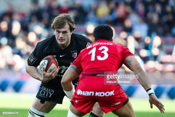Richie Gray of Toulouse during the French Top 14 match between Toulouse and Lyon OU on March 11 2018 in Toulouse France