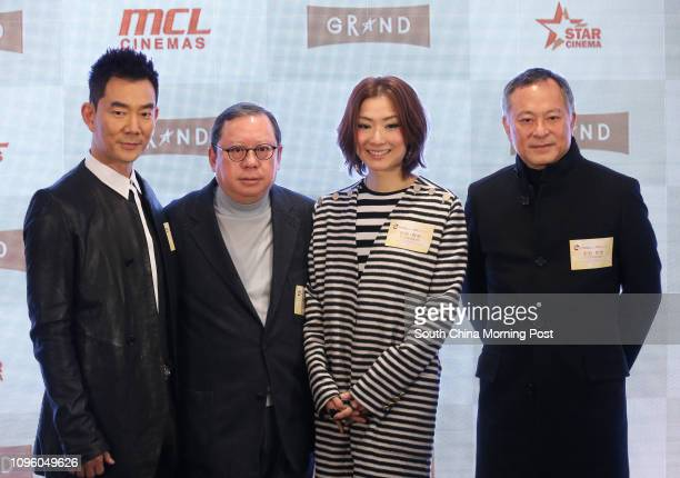 Richie Jen Hsienchi Chairman of Lai Sun Group Dr Peter Lam Kinngok Sammi Cheng Sauman and Johnnie To Keifung attend eSun Holdings and Multiplex...