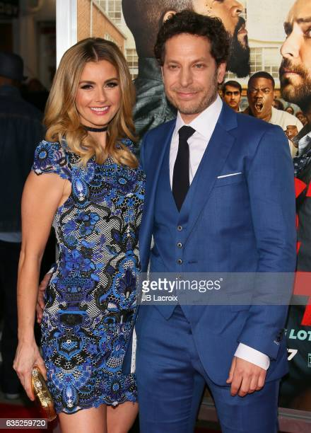 Richie Keen and Brianna Brown attend premiere of Warner Bros Pictures' 'Fist Fight' on February 13 2017 in Westwood California