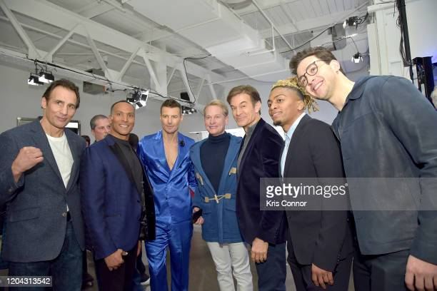 Richie Lamontagne Mike Woods Alex Lundqvist Carson Kressley Dr Oz Buster Skrine and Dr Mike attend The Blue Jacket Fashion Show during NYFW at Pier...