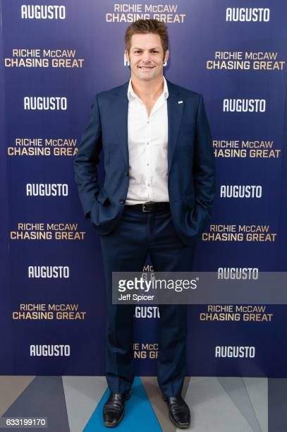 Richie McCaw attends a special screening of 'Chasing Great' at Picturehouse Central on January 31 2017 in London England