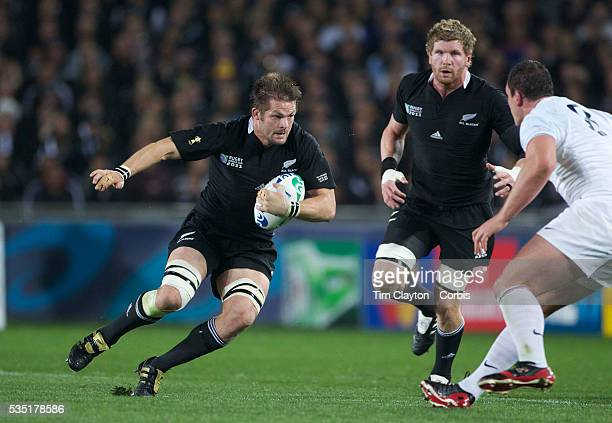 Richie McCaw, New Zealand, playing in his 100th test match in action during the New Zealand V France, Pool A match during the IRB Rugby World Cup...