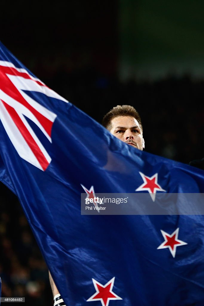 Richie McCaw of the All Blacks before The Rugby Championship match between the New Zealand All Blacks and Argentina at AMI Stadium on July 17, 2015 in Christchurch, New Zealand.