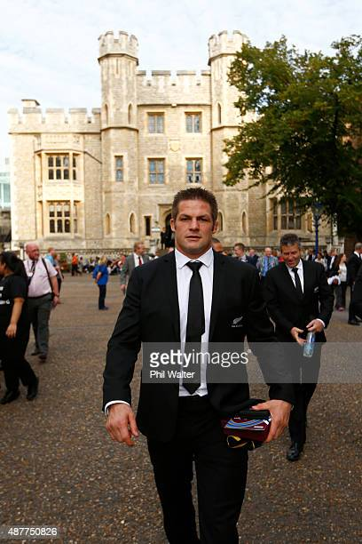Richie McCaw of the New Zealand All Blacks following their RWC 2015 Welcome Ceremony at the Tower of London on September 11, 2015 in London, England.