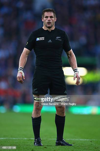 Richie McCaw of the New Zealand All Blacks looks on during the 2015 Rugby World Cup Final match between New Zealand and Australia at Twickenham...