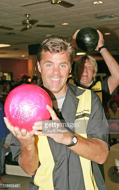 Richie McDonald and Keech Rainwater from Lonestar during Lonestar And Friends Strike Out For The Kids - 2nd Annual Bowling Party for St. Jude...