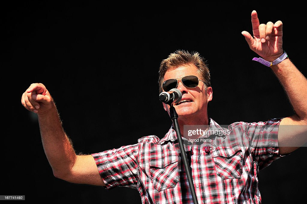 Richie McDonald, lead singer for Lonestar performs at the 2013 Stagecoach Country Music Festival at The Empire Polo Club on April 28, 2013 in Indio, California.