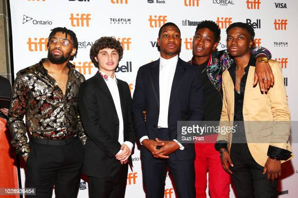 Richie Merritt Jonathan Majors RJ Cyler and guests attend the 'White Boy Rick' premiere during 2018 Toronto International Film Festival at Ryerson...