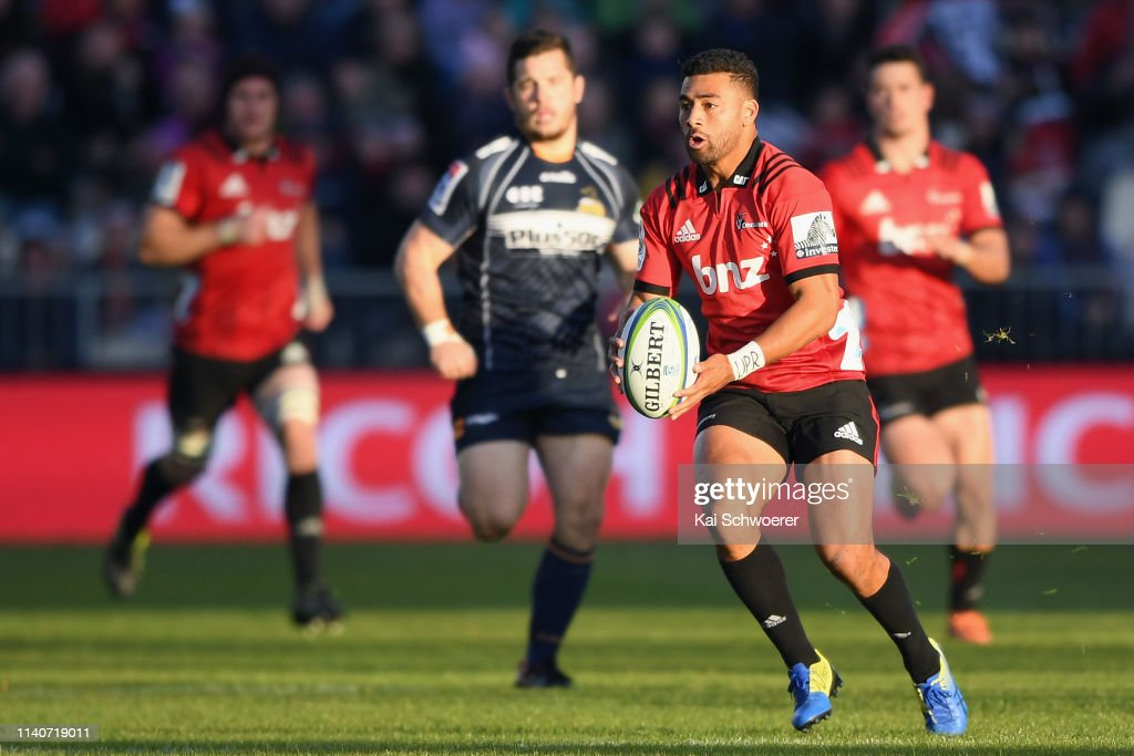 Super Rugby Rd 8 - Crusaders v Brumbies : News Photo