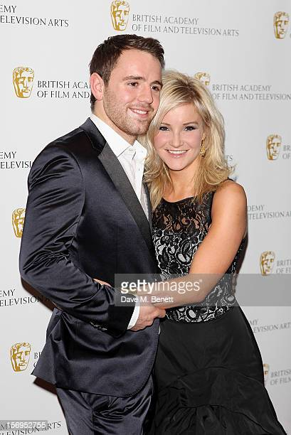 Richie Myler and Helen Skelton arrive at the British Academy Children's Awards at the London Hilton on November 25 2012 in London England