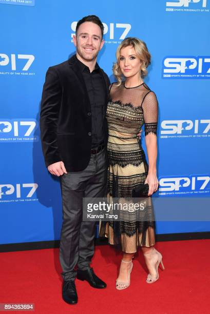 Richie Myler and Helen Skelton attend the BBC Sports Personality of the Year 2017 Awards at the Echo Arena on December 17 2017 in Liverpool England