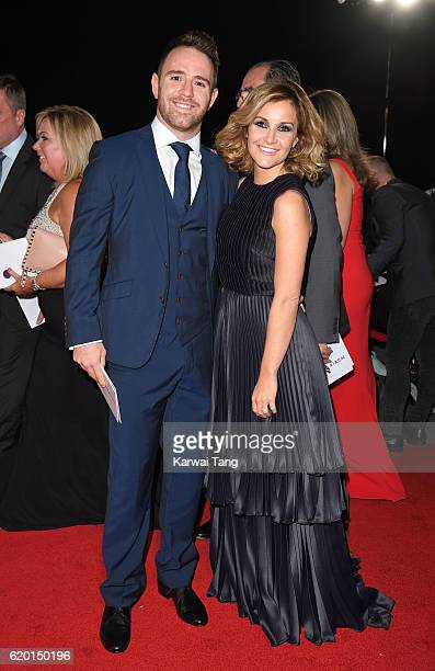 Richie Myler and Helen Skelton attend the Pride Of Britain Awards at The Grosvenor House Hotel on October 31 2016 in London England