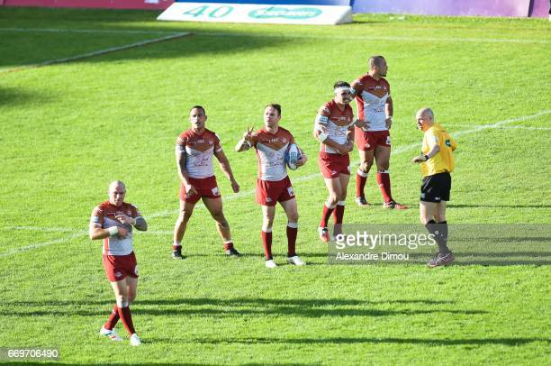Richie Myler of Dragons during the Betfred Super League match between Catalans Dragons and Salford Red Devils on April 17 2017 in Perpignan France
