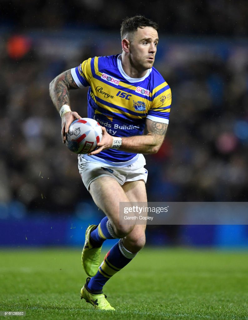 Richie Myler of Leeds during the Betfred Super League match between Leeds Rhinos and Hull Kingston Rovers on February 8, 2018 in Leeds, England.