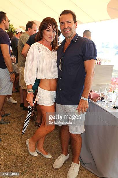 Richie Notar and Jane Notar attend the opening day of the Bridgehampton Polo Club's 17th Season at the Bridgehampton Polo Club on July 20 2013 in...
