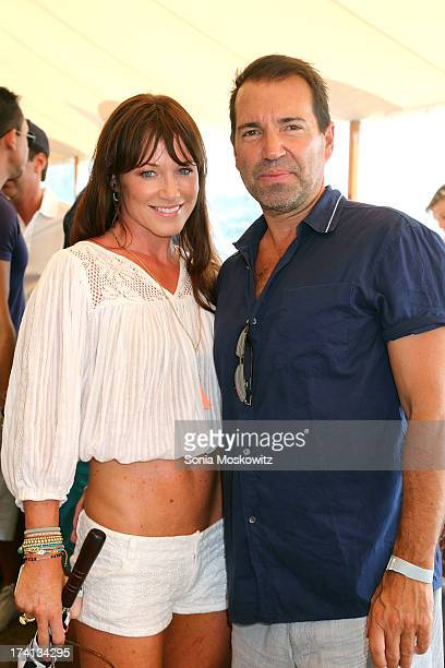 Richie Notar and wife Jane Notar attend the opening day of the Bridgehampton Polo Club's 17th Season at the Bridgehampton Polo Club on July 20 2013...