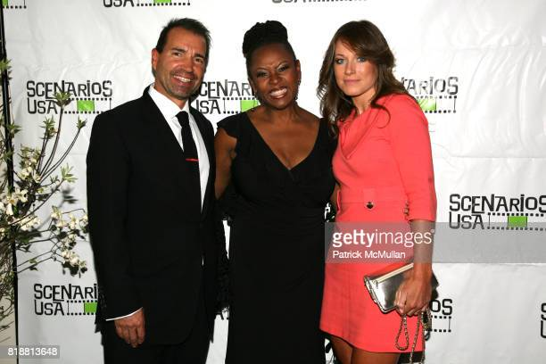 Richie Notar Robin Quivers and Jane Notar attend SCENARIOS USA 2010 Awards and Gala at Tribeca Rooftop on April 27 2010 in New York