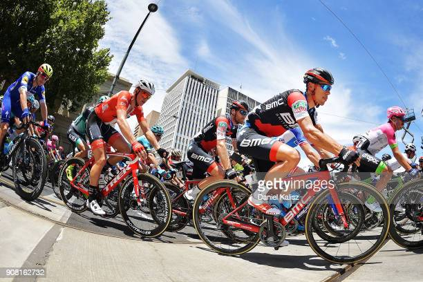 Richie Porte of Australia and BMC Racing Team competes during stage six of the 2018 Tour Down Under on January 21 2018 in Adelaide Australia