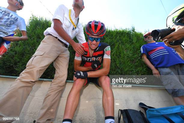 Richie Porte of Australia and BMC Racing Team / Crash / Injury / Doctor / Medical / Abandon / Broken collar bone / during the 105th Tour de France...