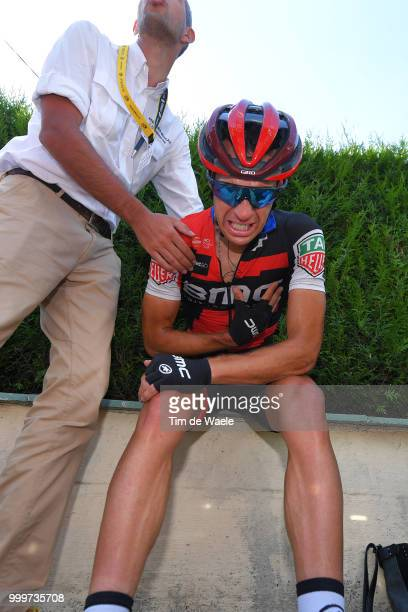 Richie Porte of Australia and BMC Racing Team / Injury / Crash / Abandoned the race / during the 105th Tour de France 2018, Stage 9 a 156,5 stage...