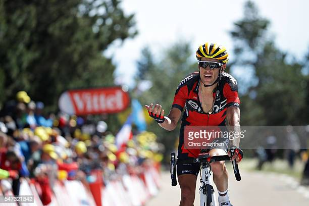 Richie Porte of Australia and BMC Racing Team rides towards the finish line of stage twelve of the 2016 Le Tour de France a 184 km stage from...