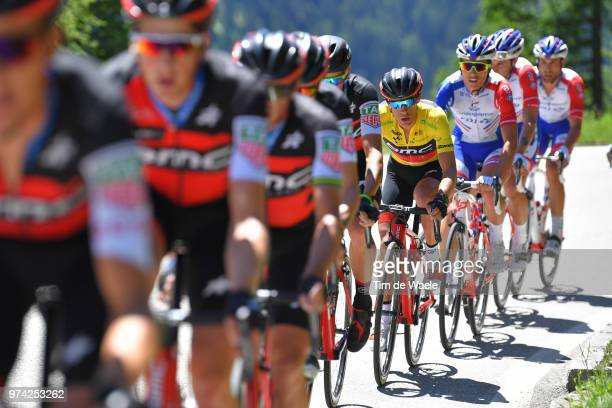 Richie Porte of Australia and BMC Racing Team Yellow Leader Jersey during the 82nd Tour of Switzerland 2018 / Stage 6 a 186km from Fiesch to...
