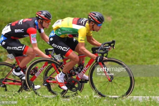 Richie Porte of Australia and BMC Racing Team Yellow Leader Jersey / Tejay van Garderen of The United States and BMC Racing Team / during the 82nd...