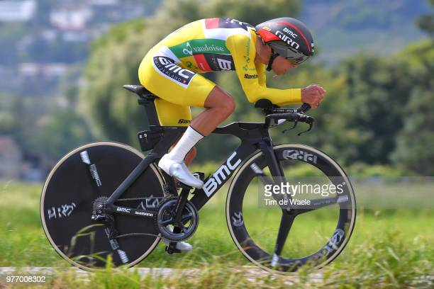 Richie Porte of Australia and BMC Racing Team Yellow Leader Jersey / during the 82nd Tour of Switzerland 2018, Stage 9 a 34,1km individual time trial...
