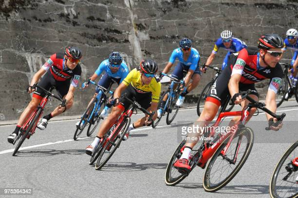 Richie Porte of Australia and BMC Racing Team Yellow Leaders Jersey / during the 82nd Tour of Switzerland 2018 Stage 7 a 1705km stage from Eschenbach...