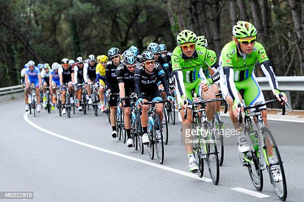 Richie Porte of Australia and Team Sky during the Stage 1 of the Volta a Catalunya on March 24 2014 in Calella Spain