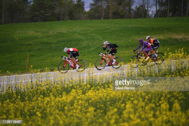 Richie Porte of Australia and Team Trek - Segafredo / Giulio Ciccone of Italy and Team Trek - Segafredo / James Mitri of New Zealand and Team Burgos...
