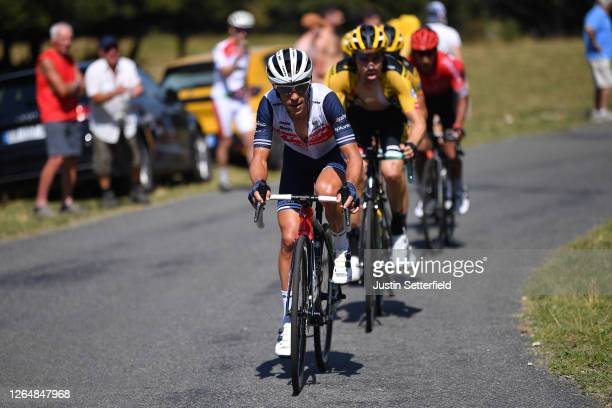 Richie Porte of Australia and Team Trek - Segafredo / Tom Dumoulin of The Netherlands and Team Jumbo - Visma / during the 32nd Tour de L'Ain 2020,...