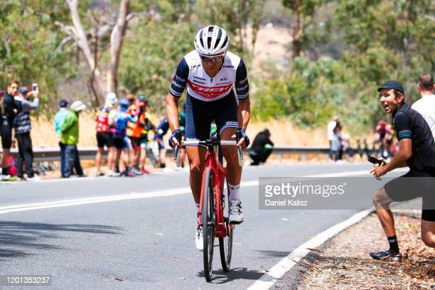 Richie Porte of Australia and Team Trek-Segafredo / Attack / during the 22nd Santos Tour Down Under 2020, Stage 3 a 131km stage from Unley to...