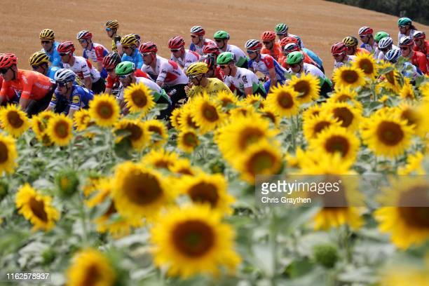 Richie Porte of Australia and Team Trek-Segafredo / Julian Alaphilippe of France and Team Deceuninck - Quick-Step Yellow Leader Jersey / Jasper...