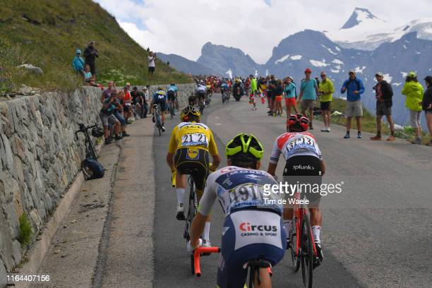 Richie Porte of Australia and Team Trek-Segafredo / Julian Alaphilippe of France and Team Deceuninck - Quick-Step Yellow Leader Jersey / Guillaume...