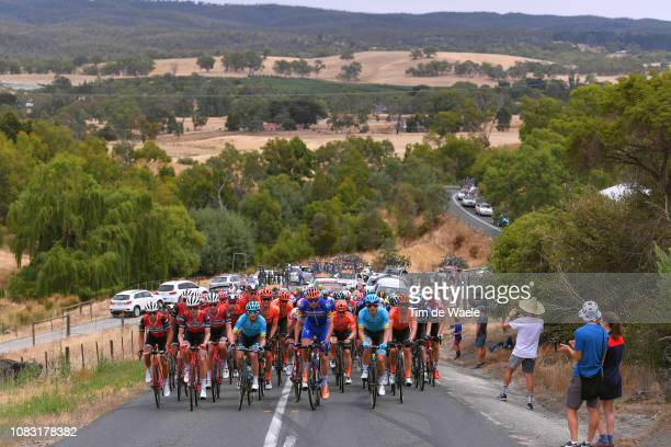 Richie Porte of Australia and Team TrekSegafredo / Koen de Kort of The Netherlands and Team TrekSegafredo / Peter Stetina of The United States and...