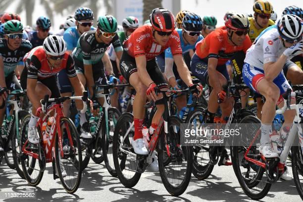 Richie Porte of Australia and Team Trek-Segafredo / Nikias Arndt of Germany and Team Sunweb / Vincenzo Nibali of Italy and Team Bahrain-Merida /...