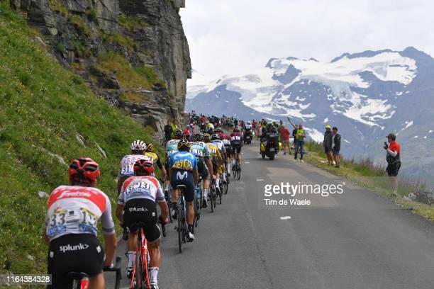Richie Porte of Australia and Team TrekSegafredo / Romain Bardet of France and Team AG2R La Mondiale Polka Dot Mountain Jersey / Mikel Landa of Spain...