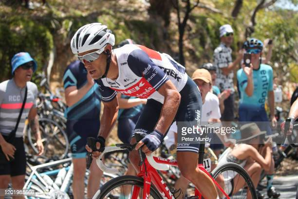 Richie Porte of Australia and Trek-Segafredo sprints on the final climb of Willunga Hill at Stage 6 from McLaren Vale to Willunga Hill of the 22nd...
